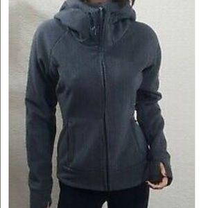 Bench jacket (gray chevron) with tumb holes